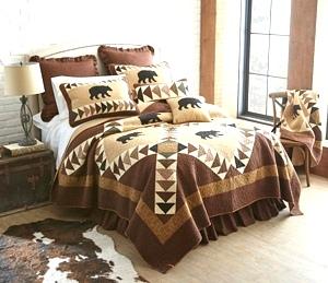 Woodcut Bear Quilt