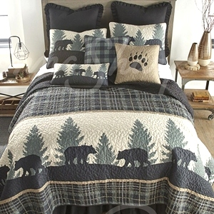 Bear Walk Plaid Quilt Collection by Donna Sharp